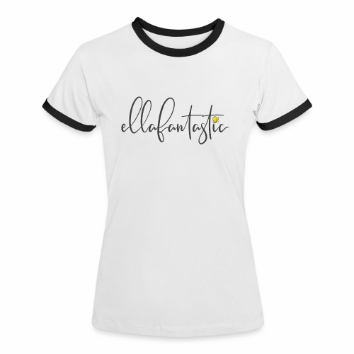 Logo ellafantastic ohne Hintergrund - Frauen Kontrast-T-Shirt