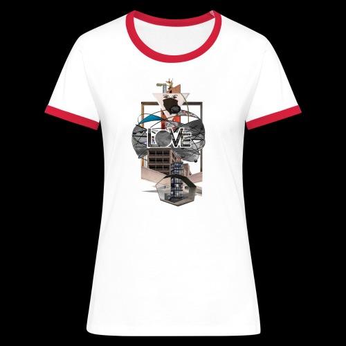 LOVE - Frauen Kontrast-T-Shirt