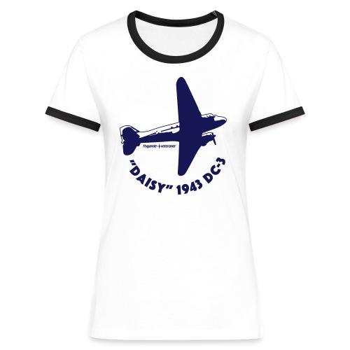 Daisy Flyover 1 - Kontrast-T-shirt dam