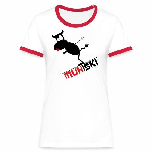 muhski - Frauen Kontrast-T-Shirt