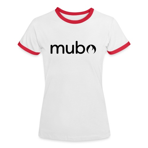 mubo Logo Word Black - Women's Ringer T-Shirt