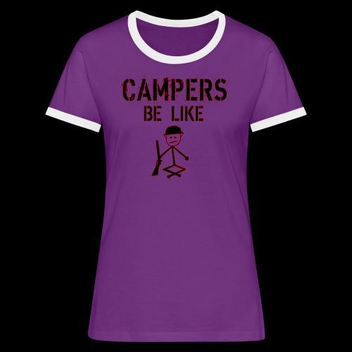 Camper Gaming - Frauen Kontrast-T-Shirt