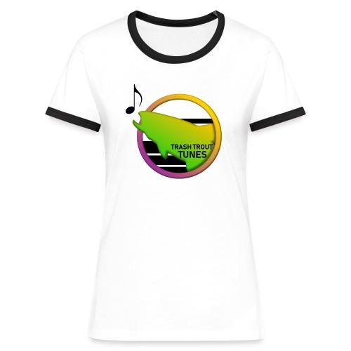 Trash Trout Tunes - Dame kontrast-T-shirt
