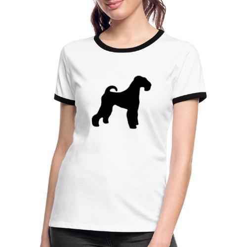 BLACK Airedale Terrier - Women's Ringer T-Shirt