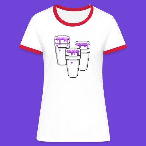 Purple - Maglietta Contrast da donna