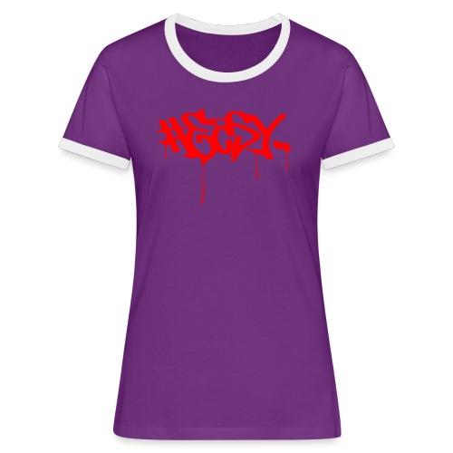 #EASY Graffiti Logo T-Shirt - Maglietta Contrast da donna