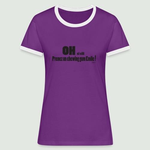 chewing gum Emile - T-shirt contrasté Femme