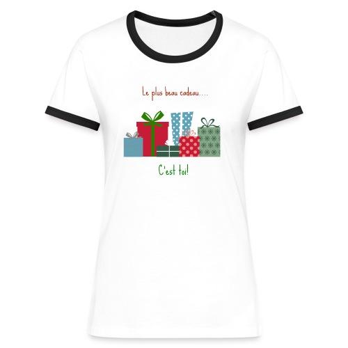 Le plus beau cadeau - T-shirt contrasté Femme