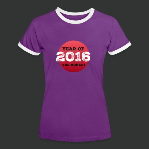 2016 year of the monkey - Women's Ringer T-Shirt