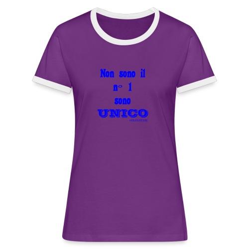 Unico #FRASIMTIME - Maglietta Contrast da donna