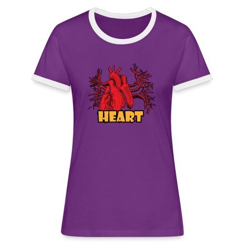 HEART - Maglietta Contrast da donna