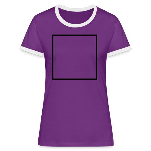 Square t shirt black - Vrouwen contrastshirt