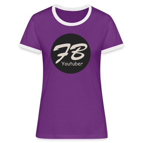 TSHIRT-YOUTUBER - Vrouwen contrastshirt