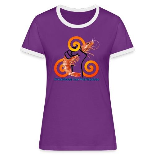 Irmandade das Mariscadas - Camiseta contraste mujer