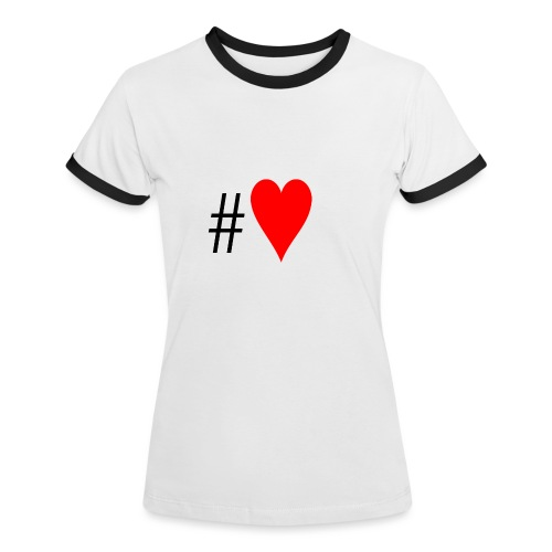 Hashtag Heart - Women's Ringer T-Shirt