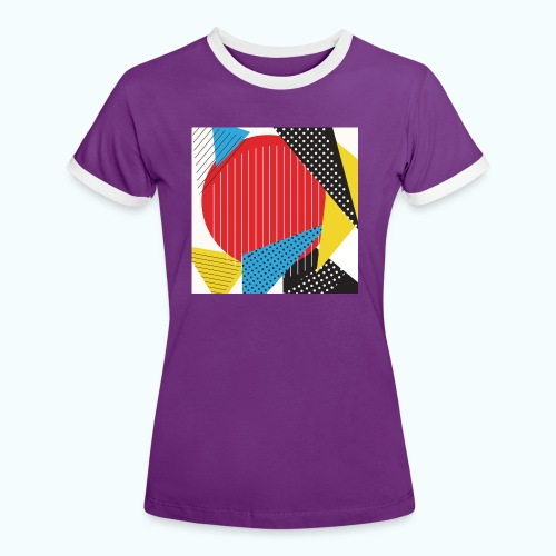 Geometry collage Abstract colors - Women's Ringer T-Shirt
