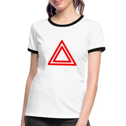 Warning - Women's Ringer T-Shirt
