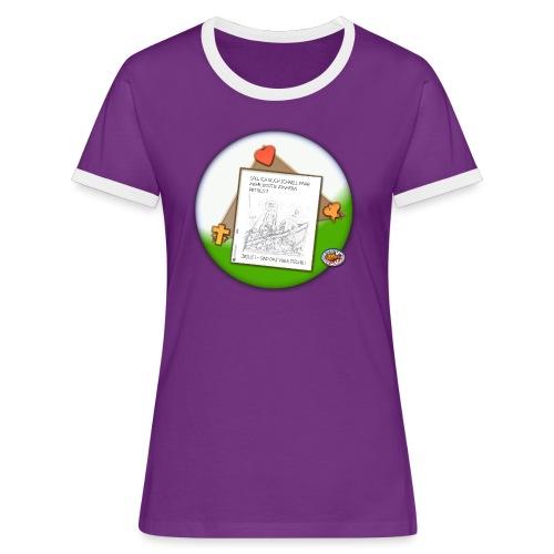 Petrus trifft Jesus - zu viele Fische ! - Frauen Kontrast-T-Shirt