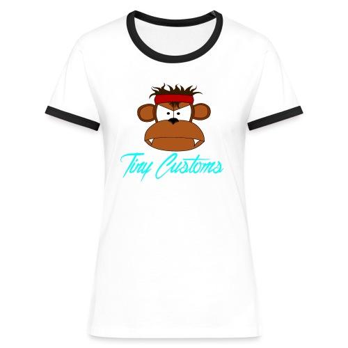 Tiny Customs - Kontrast-T-shirt dam