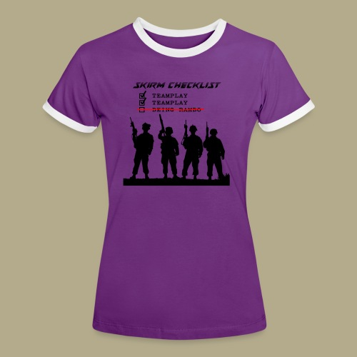 Skirm Checklist - Vrouwen contrastshirt