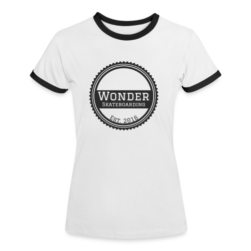 Wonder unisex-shirt round logo - Dame kontrast-T-shirt