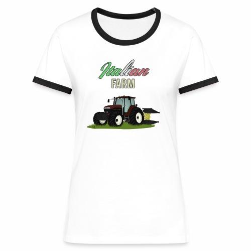 Italian Farm official T-SHIRT - Maglietta Contrast da donna