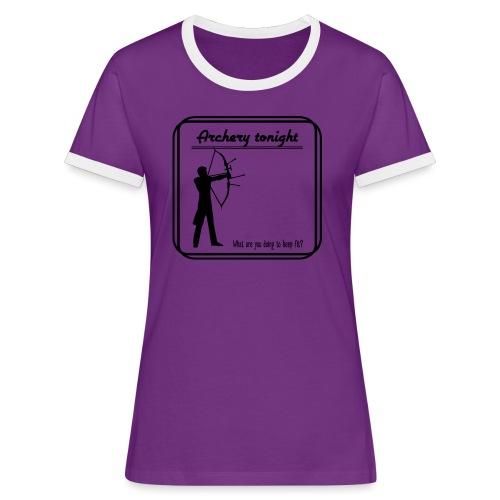 Archery tonight - Naisten kontrastipaita