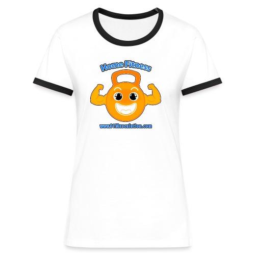 Logo 01Musculation Home Fitness Kettlebell - T-shirt contrasté Femme