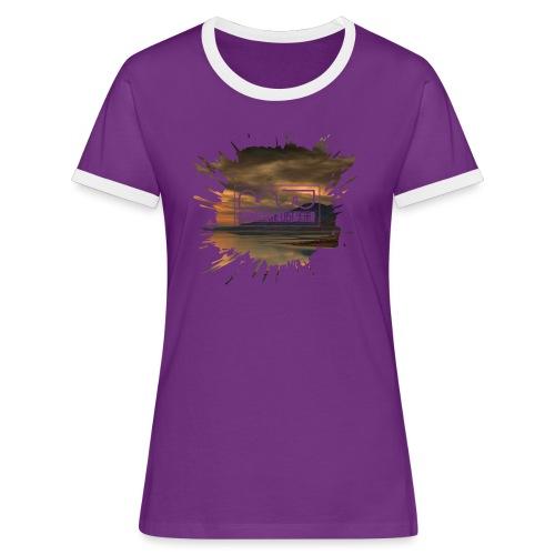 Men's shirt Splatter - Women's Ringer T-Shirt