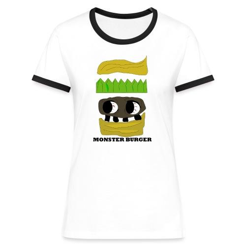 MONSTER BURGER - Frauen Kontrast-T-Shirt