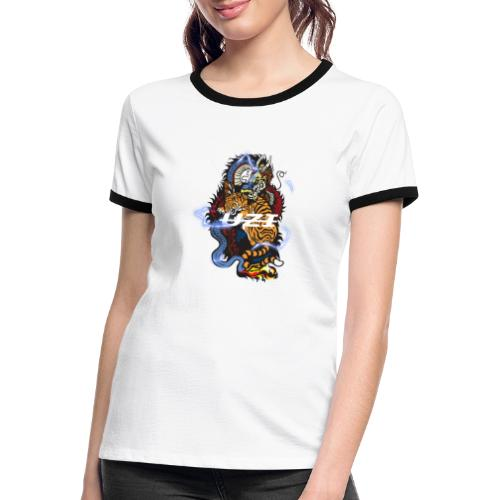 Tiger&DragonUzi - T-shirt contrasté Femme