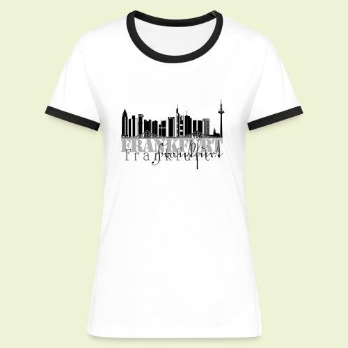 FFM - Frankfurt Skyline - Frauen Kontrast-T-Shirt