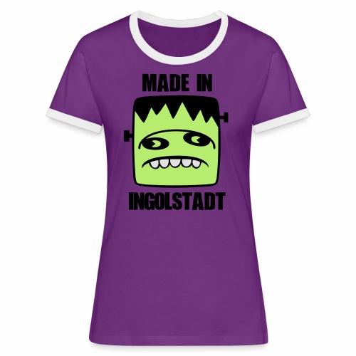 Fonster made in Ingolstadt - Frauen Kontrast-T-Shirt