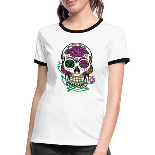 calavera 1 - Camiseta contraste mujer
