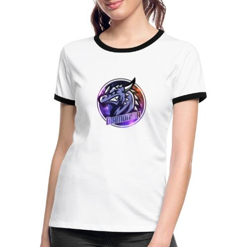 DIa Logo - Dame kontrast-T-shirt