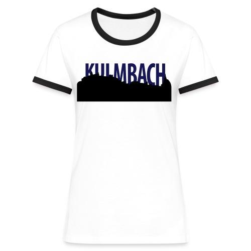 skyline_ku_schrift - Frauen Kontrast-T-Shirt