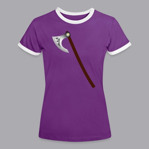 Wikinger Beil - Frauen Kontrast-T-Shirt