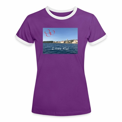 I love Rab - Frauen Kontrast-T-Shirt