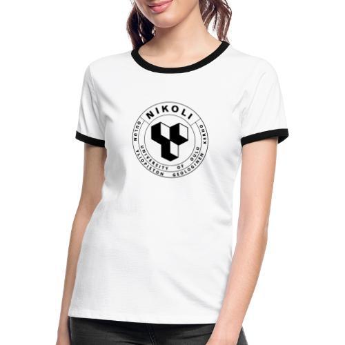 Nikolin musta logo - Naisten kontrastipaita