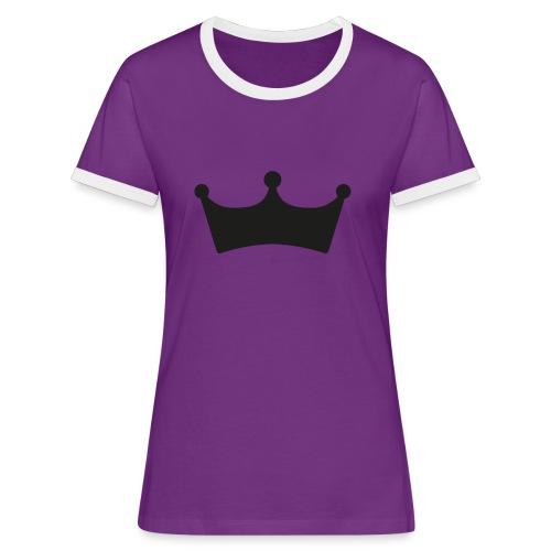 JewelFC Kroon - Vrouwen contrastshirt