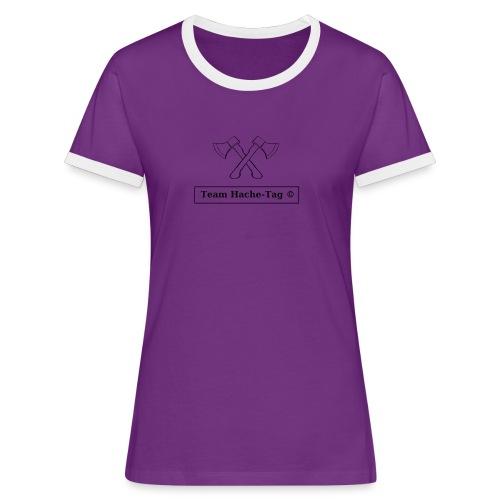 Logo Team Hache-Tag - T-shirt contrasté Femme