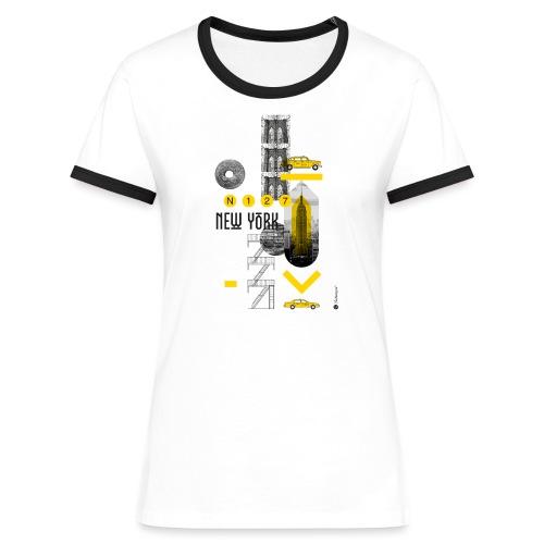 NEW YORK - T-shirt contrasté Femme