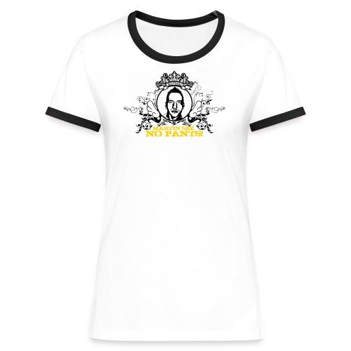martin nopants - Kontrast-T-shirt dam