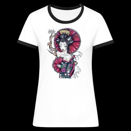 Geisha2 - Maglietta Contrast da donna