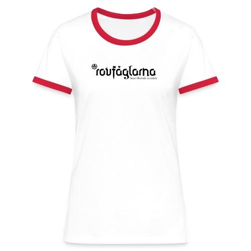 Rovfåglarna två - Kontrast-T-shirt dam