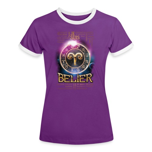 BELIER - T-shirt contrasté Femme