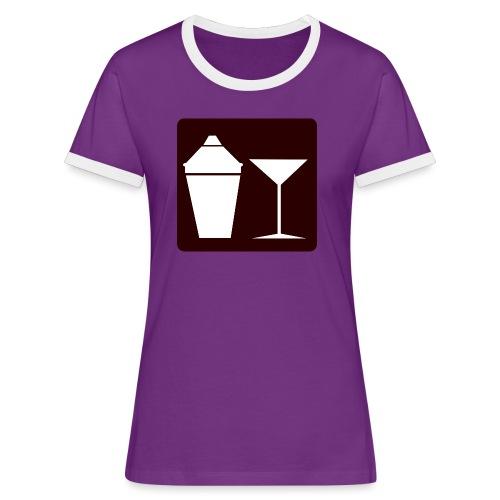 Alkohol - Frauen Kontrast-T-Shirt