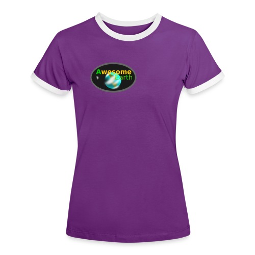 awesome earth - Women's Ringer T-Shirt