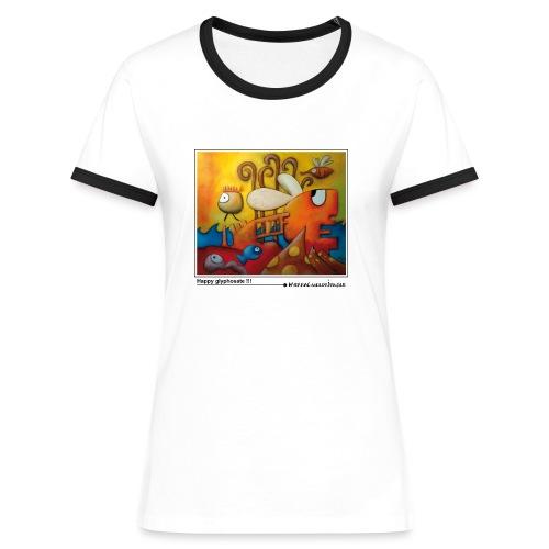 HappyGlyphosate2018Vect - T-shirt contrasté Femme