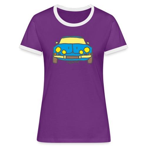Voiture ancienne mythique française - T-shirt contrasté Femme